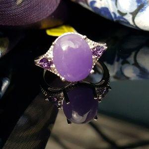 Jewelry - Burmese Purple Jade n Purple CZ